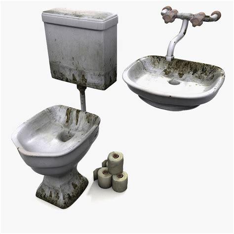prison toilet and sink 3dsmax prison wc sink