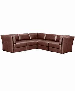 ramiro leather modular sectional sofa 5 piece 3 square With sectional sofa units