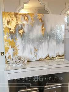 Sold acrylic abstract art large canvas painting gray