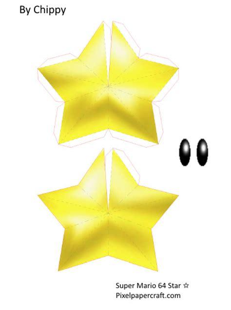 Papercraft Super Mario 64 Star