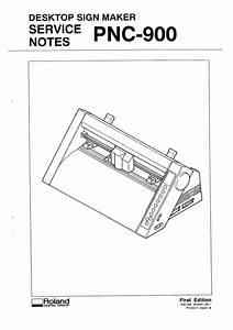 Roland Pnc900 Pnc-900 Camm1 Camm-1 Service Manual