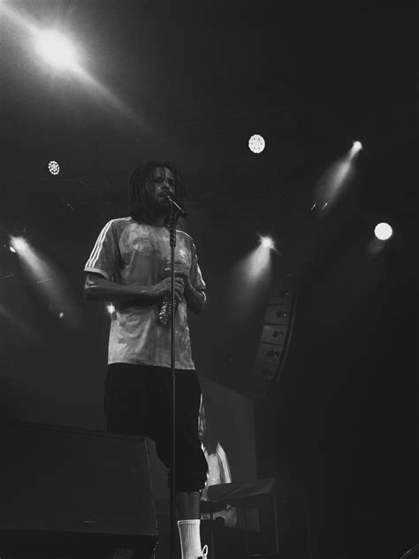 Here are some epic close-ups of J.Cole on-stage at the Eko Convention centre - The Native