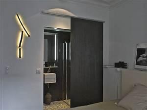 porte coulissante pour salle de bain With porte de douche coulissante avec salle de bain moderne 2016