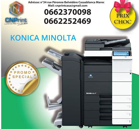 The incredible monthly task cycle of 150,000 pages stays on top of the increasing quantities of your service. konica minolta bizhub c454 - CNPrint