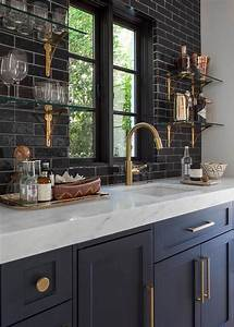 basement wet bar with built in shelves transitional With kitchen cabinet trends 2018 combined with papier peint carreaux de ciment