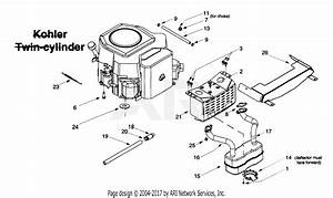 Mtd 14az804p401  1999  Parts Diagram For Muffler  Engine