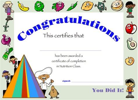 certificates of completion for kids certification of completion for kids www pixshark com