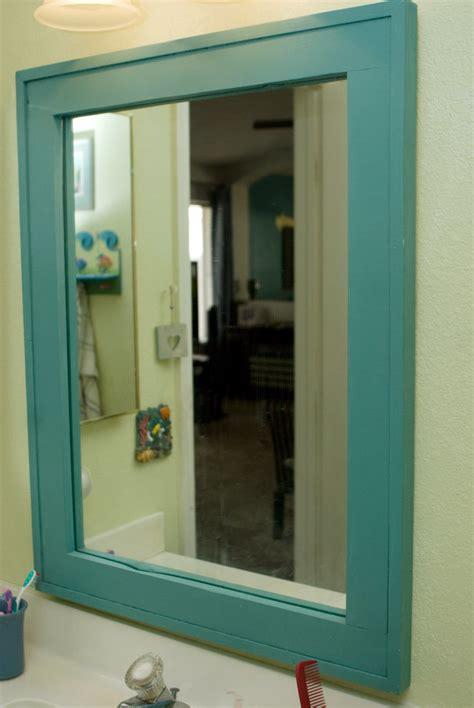 ana white barnwood frame   vanity mirror diy projects