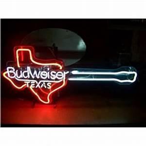 Budweiser Texas Guitar NEON SIGN 18