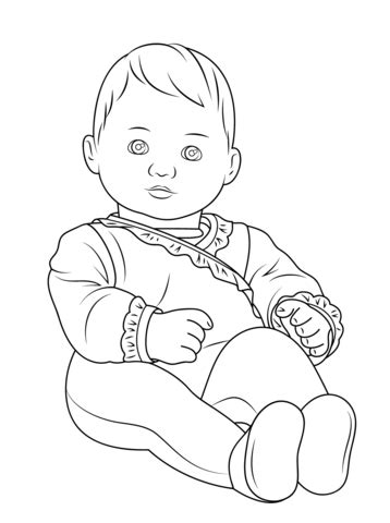 american girl bitty baby coloring page  printable
