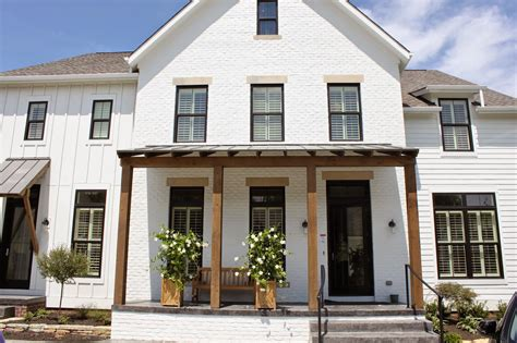 white farmhouse exterior the fat hydrangea parade of homes week 2014 house 3