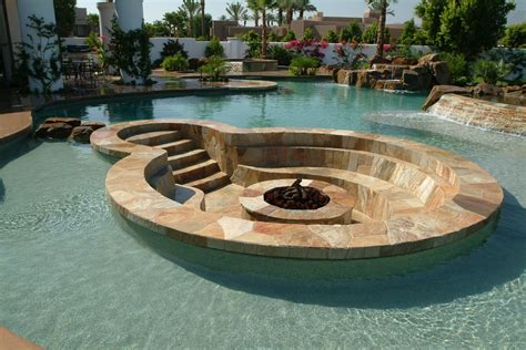 11 amazing designs of fire pits built inside pools outdoor fire pits fire pit designs