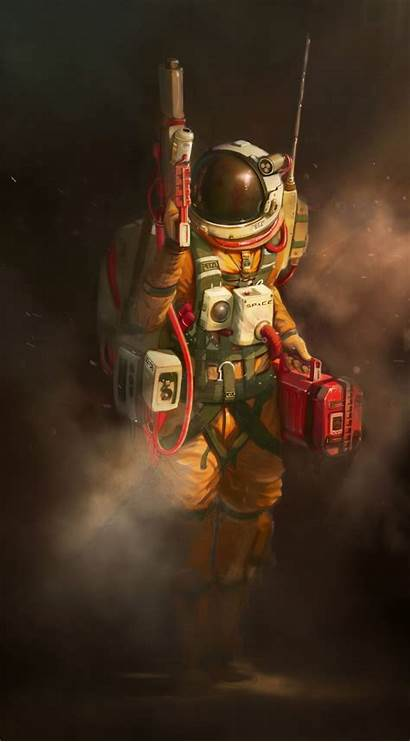 Space Lost Astronaut Artstation Dhruv Artwork Miner