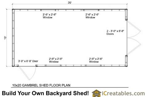 10x20 Storage Shed Plans Free by 10x20 Gambrel Shed Plans 10x10 Barn Shed Plans