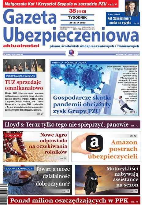 Gazeta Ubezpieczeniowa nr 38/2020 | E-Wydanie | Gazeta ...