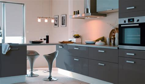 photo cuisine grise décoration cuisine gris anthracite