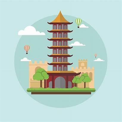 China Chinese Into Landscape Landmarks Landmark Clip