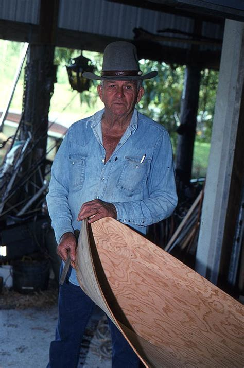 florida memory glen simmons building  everglades skiff