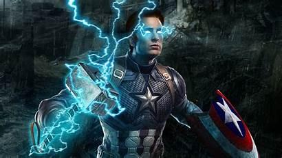 Avengers Captain America Endgame 4k Mjolnir Wallpapers