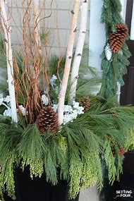 outdoor christmas decorations with birch - Birch Christmas Decorations