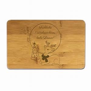 Frühstücksbrettchen Mit Gravur : fr hst cksbrettchen mit weihnachtsmotiv rentier mit gravur ~ Buech-reservation.com Haus und Dekorationen