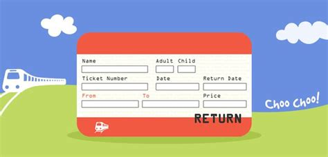 A Printable Set Of Uk Train Ticket Templates There Are 8