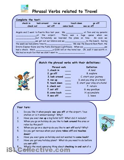 phrasal verbs related to travel nibeditta board 1