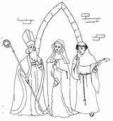 Monk Medieval European Coloring Template Pages sketch template