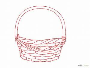 Drawing Of Basket Of Flowers - Cliparts.co