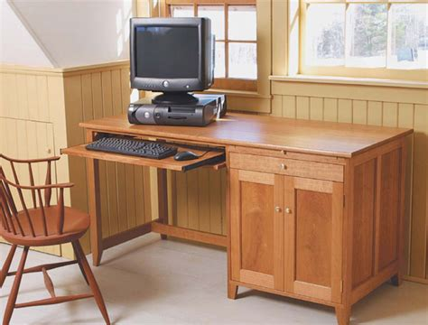 build  computer desk finewoodworking