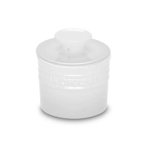 le creuset stoneware butter crock oz white cutlery