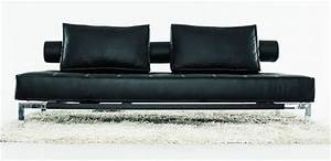 luxe daybed sofa with head elevation black With sectional sofa elevation