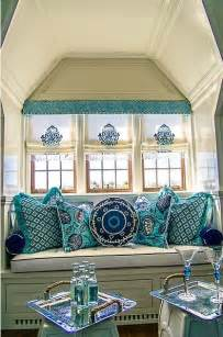 Navy and Turquoise Living Room Coastal