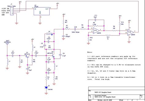 x10 rf daughter board receiver signal processing