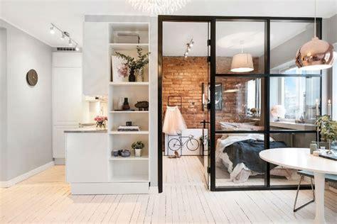 small scandinavian apartment  open  airy design
