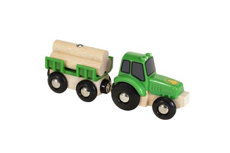 traktor mit anhänger brio traktor mit holz anh 228 nger im brio shop