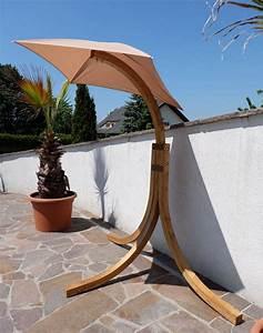 design hangesesselgestell navassa aus holz larche ohne With französischer balkon mit garten hängesessel