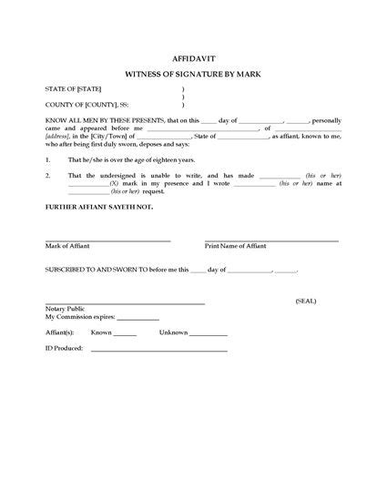 Get documents notarized or commissioned fast, with fast, official virtual notarization or find a notary public near you. USA Affidavit of Witness by Mark (not Signature)   Legal Forms and Business Templates   MegaDox.com