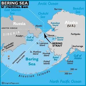 Map of Bering Sea - Bering Sea Map, World Strait Locations ...