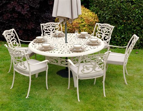ornamental 6 seater garden furniture set by idle