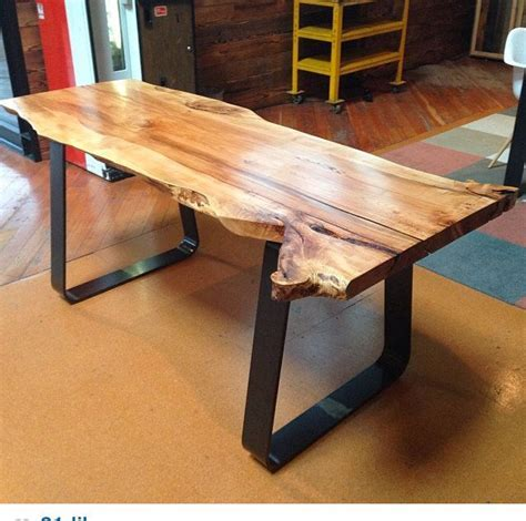 Live Edge Maple Slab Work Table