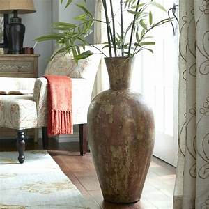 view in gallery transparent floor vase showcases real With what to put in a large floor vase