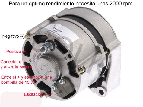alternador 12 v 30 para cargar bater 237 as