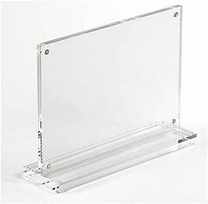 the acrylic picture frame is made of clear plastic and With 11x17 magnetic document holder