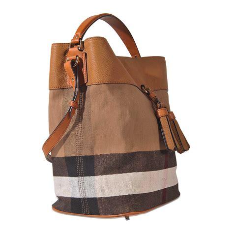 lyst burberry medium ashby  bag  brown