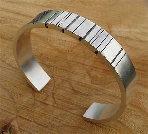 mens silver personalised barcode bracelet lovehave