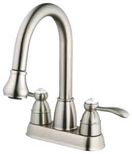 kitchen sink faucet with pull out spray foret n600 01 ss pull spray laundry faucet in stainless steel traditional utility