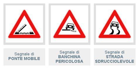 segnale mobile di pericolo segnali di pericolo 8 lezione di teoria patente