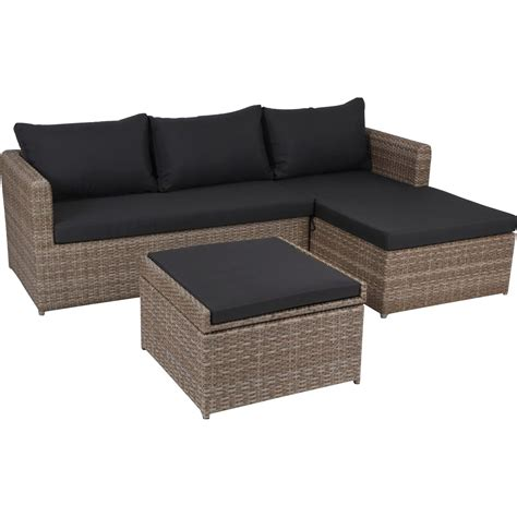 lounge set garten greemotion garten lounge set louisville polyrattan braun 3