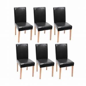 Chaise de salle a manger simili cuir noir for Meuble de salle a manger avec chaise cuir noir salle manger